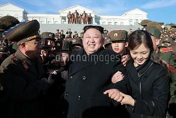 March 2, 2017 - Pyeongyang, North Korea: North Korean leader Kim Jong-Un (C) and his wife Ri Sol-Ju