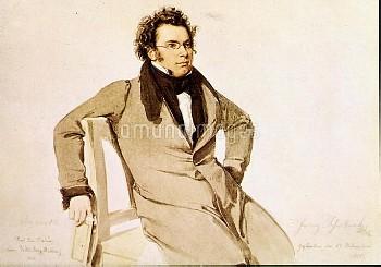 Franz Schubert (1797-1828), Austrian composer. Watercolour by W.A. Rieder (1825). Vienna, Schubertmu