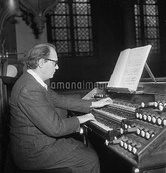 Olivier Messiaen (1908-1992), French composer, March 1952.