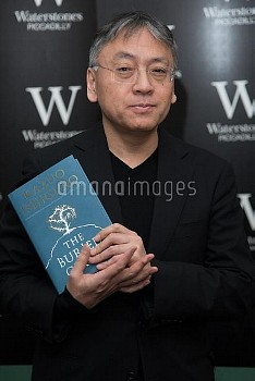 Man Booker Prize winner Kazuo Ishiguro launches his new book 'The Buried Giant' at Waterstones Picca