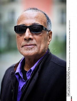 "Iranien film director Abbas Kiarostami, close-up , before the sreening of "" Certified Copy "" during"