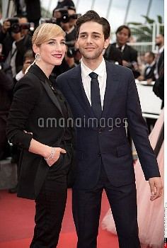 Nancy Grant and Xavier Dolan attend the closing ceremony of the 69th annual Cannes Film Festival at