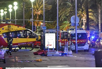 Nice terrorist attack. More than 80 were killed when a truck drove into a crowd watching a fireworks