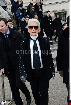 Karl Lagerfeld . Dior Menswear Fall/Winter 2017-2018 show as part of Paris Fashion Week  .  21/01/20