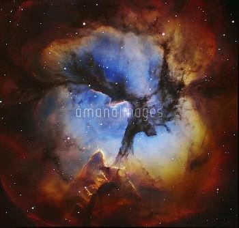 Trifid Nebula M20, Hubble image