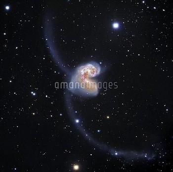 Antennae colliding galaxies