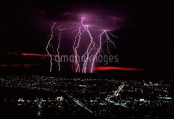 Lightning over Tamworth, Australia