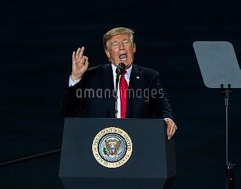 トランプ大統領、米・ペンシルベニア州のハリスバーグ国際空港で税制改革案について言及