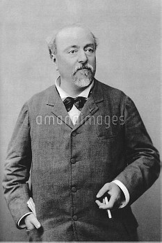 Emmanuel Chabrier (1841-1894), French Romantic composer and pianist. Artist: Benque