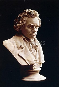 Portrait bust of Ludwig van Beethoven (1770-1827), German composer and pianist. One of the most infl