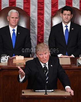 President Trump delivers an address to a Joint Session of Congress at the U.S. Capitol Building