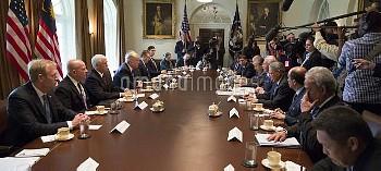 トランプ米大統領とマレーシアのナジブ首相が会談