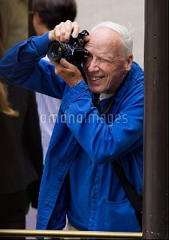 Fashion photographer for The New York Times, Bill Cunningham, spotted working in Manhattan  Featurin