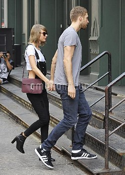 Taylor Swift and Calvin Harris out and about in NYC  Featuring: Taylor Swift, Calvin Harris Where: N
