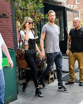 Taylor Swift and Calvin Harris had lunch at The Spotted PigFeaturing: Taylor Swift, Calvin Harris