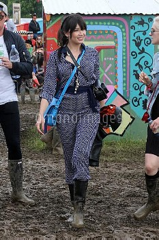 Cara Delevingne, Suki Waterhouse, and other celebrities attend Glastonbury Festival - Day 2  Featuri