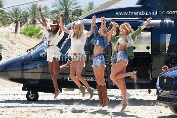 Coachella Flying Angels.  Featuring: Victoria Secret Models Where: Indio, California, United States