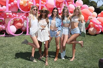 Victorias Secret Angels arrive at the Angel Oasis in the sexiest festival fashion  Featuring: Alessa