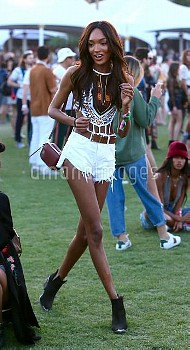 Celebrities seen attending Coachella Weekend 1 Day 2  Featuring: Jordan Dunn Where: Indio, Californi