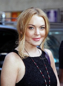 Lindsay Lohan Visits 'The Late Show'