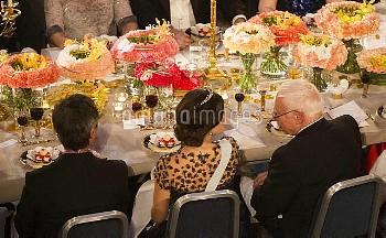 Nobel banquet, Stockholm City Hall, Stockholm 2015-12-10