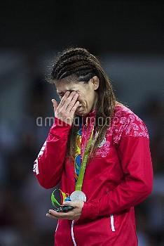 August 18, 2016 - Rio De Janeiro, BRASILIEN - 160818 Japans Saori Yoshida grter nr hon str p prispal