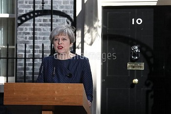 Prime Minister Theresa May gives statement in Downing Street