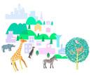 生物多様性イメージの動物イラスト