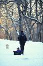 セントラルパークでの子供と男性 ニューヨーク アメリカ