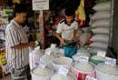マーケットの米売り場