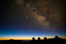 Milky way and observatories,Hawaii
