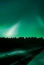 Oil pipeline and aurora