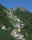 登山をする人
