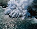 海に落ちる溶岩 ハワイ島