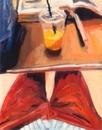 股間とオレンジジュース