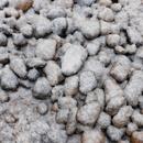 うっすら雪が積もった小石