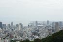 六甲方面から神戸市街を望む