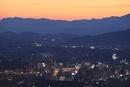 岩山公園から望む盛岡市街の夕景