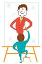 将来の自分の姿を描くビジネスマンのイメージ