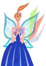 蝶の羽を持った女性