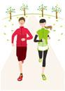 ジョギングをする男女