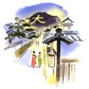 京の街を歩く舞妓さん