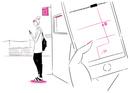 スマートフォンで地図を見る女性