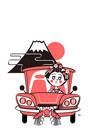 富士山の初日の出とドライブする舞子さん