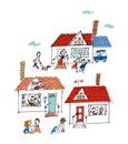 小さな街の家と家族