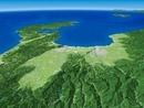 飛騨山脈へ富山湾、能登半島へ向けて富山平野を望む