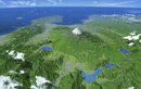 GEOART富士山・富士五湖 雲・文字情報有