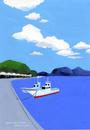 漁船の泊まる港