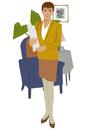 スーツを着た女性のポートレート