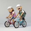 カップルでサイクリング